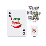 I am hot  Playing Cards 54 (Mini)  Front - Spade10