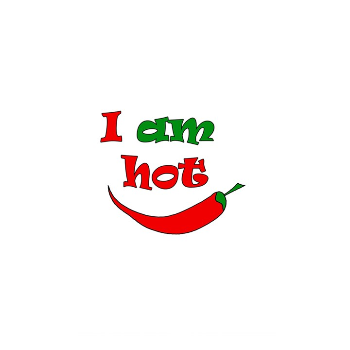 I am hot  Shower Curtain 48  x 72  (Small)
