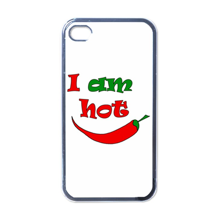 I am hot  Apple iPhone 4 Case (Black)