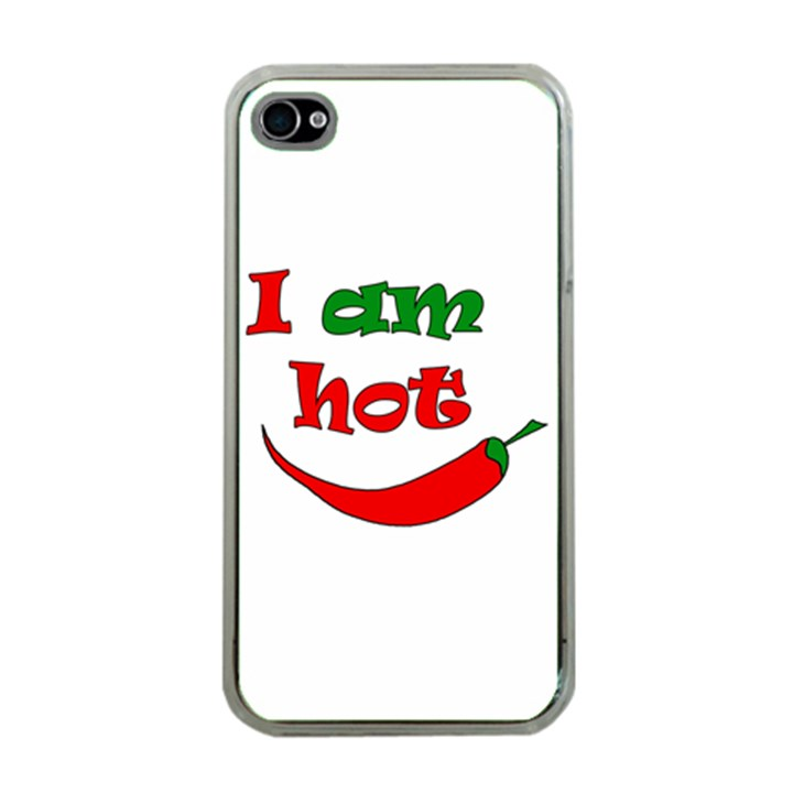 I am hot  Apple iPhone 4 Case (Clear)