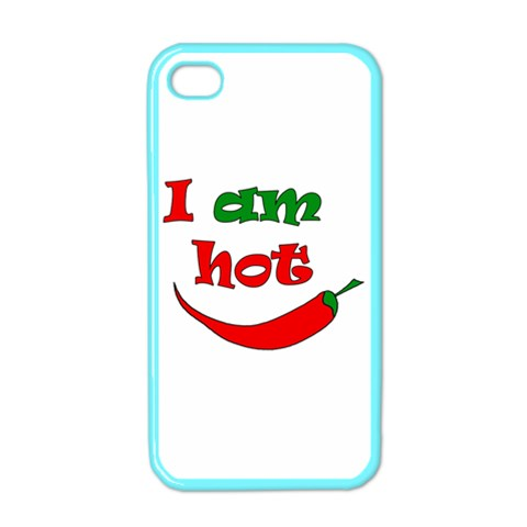 I am hot  Apple iPhone 4 Case (Color)