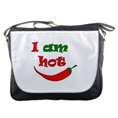 I am hot  Messenger Bags