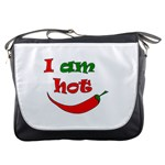 I am hot  Messenger Bags Front