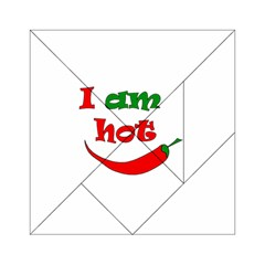I am hot  Acrylic Tangram Puzzle (6  x 6 )