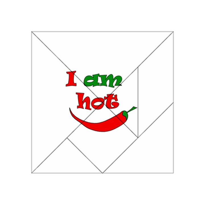 I am hot  Acrylic Tangram Puzzle (4  x 4 )