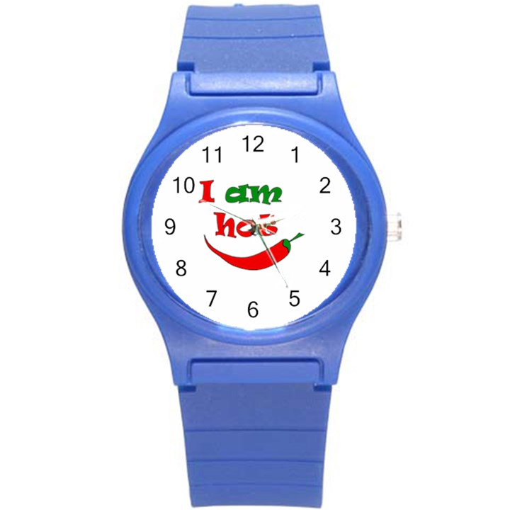 I am hot  Round Plastic Sport Watch (S)