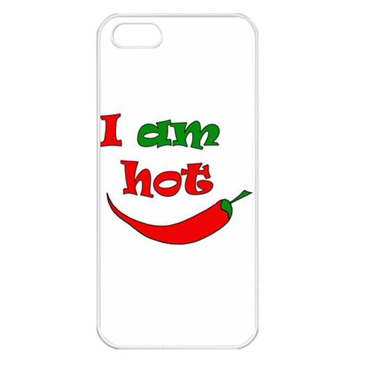I am hot  Apple iPhone 5 Seamless Case (White)