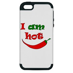 I am hot  Apple iPhone 5 Hardshell Case (PC+Silicone)