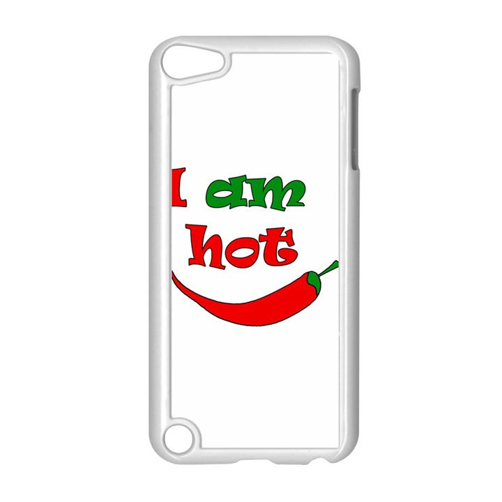 I am hot  Apple iPod Touch 5 Case (White)