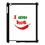 I am hot  Apple iPad 3/4 Case (Black) Front
