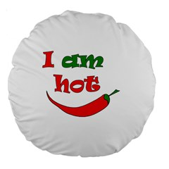 I am hot  Large 18  Premium Round Cushions
