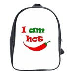 I am hot  School Bags (XL)  Front