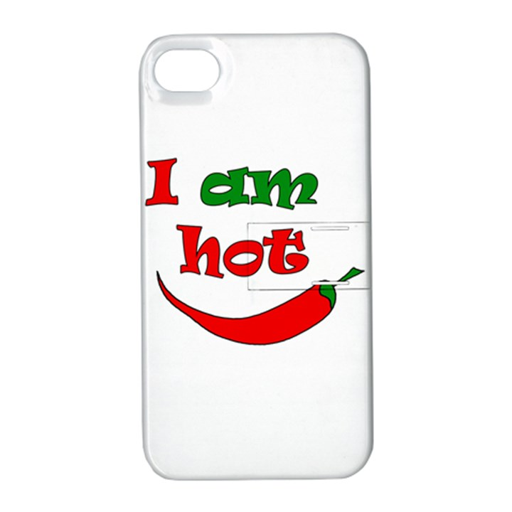 I am hot  Apple iPhone 4/4S Hardshell Case with Stand