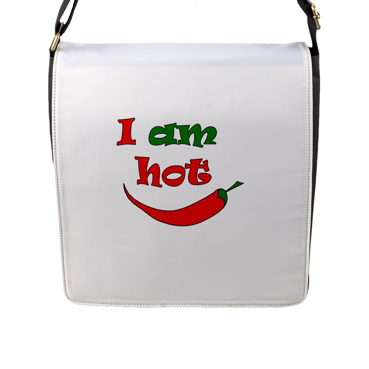 I am hot  Flap Messenger Bag (L)