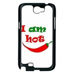 I am hot  Samsung Galaxy Note 2 Case (Black) Front
