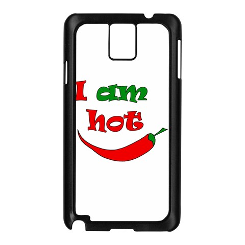 I am hot  Samsung Galaxy Note 3 N9005 Case (Black)
