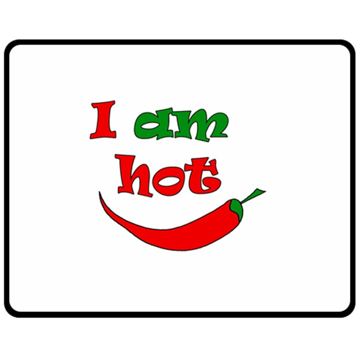 I am hot  Double Sided Fleece Blanket (Medium)