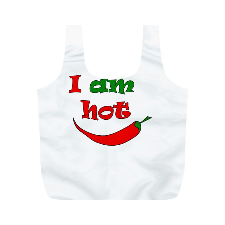 I am hot  Full Print Recycle Bags (M)