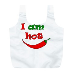I Am Hot  Full Print Recycle Bags (l)