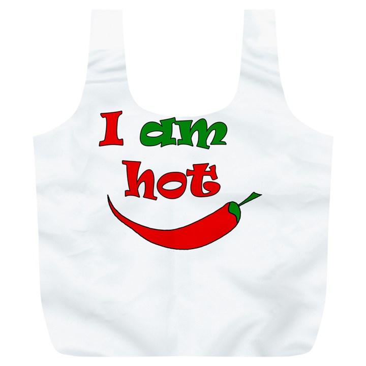 I am hot  Full Print Recycle Bags (L)