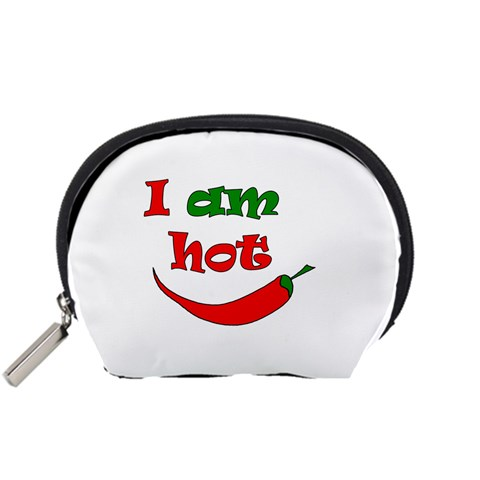 I am hot  Accessory Pouches (Small)