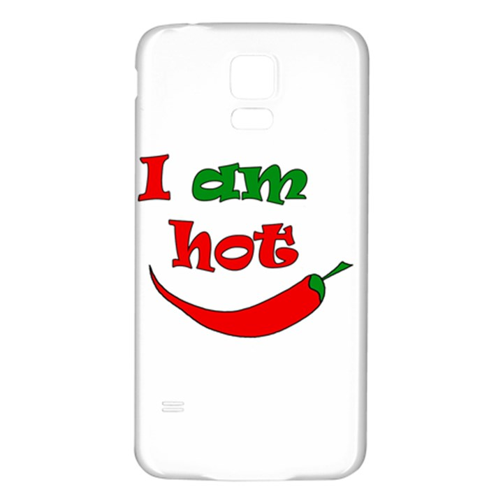 I am hot  Samsung Galaxy S5 Back Case (White)