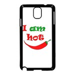 I am hot  Samsung Galaxy Note 3 Neo Hardshell Case (Black) Front