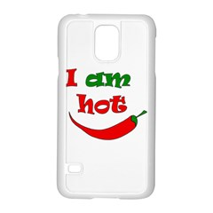 I am hot  Samsung Galaxy S5 Case (White)