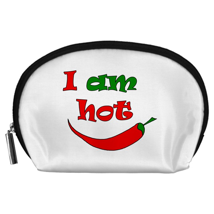 I am hot  Accessory Pouches (Large)