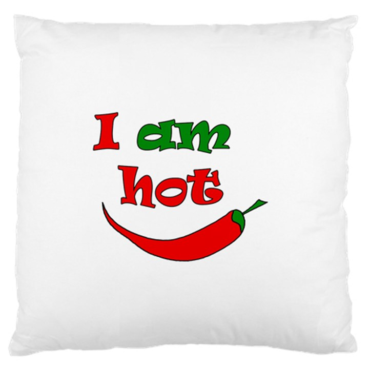 I am hot  Large Flano Cushion Case (Two Sides)