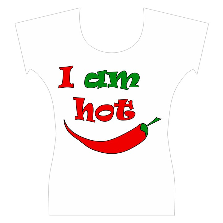 I am hot  Women s Cap Sleeve Top