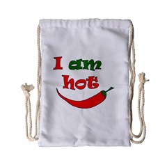 I Am Hot  Drawstring Bag (small)