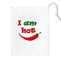 I am hot  Drawstring Pouches (XXL)