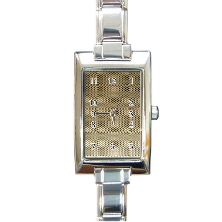 Fashion Style Glass Pattern Rectangle Italian Charm Watch