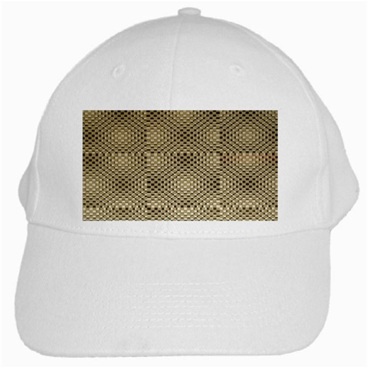 Fashion Style Glass Pattern White Cap
