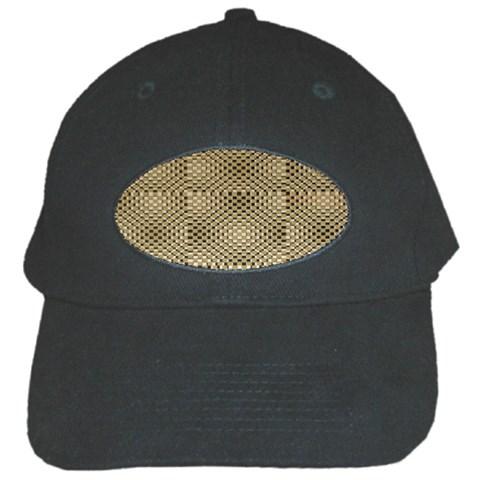 Fashion Style Glass Pattern Black Cap