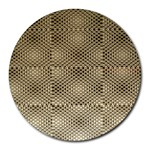 Fashion Style Glass Pattern Round Mousepads Front