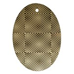 Fashion Style Glass Pattern Ornament (Oval)  Front