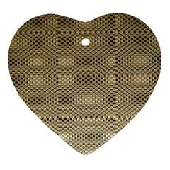 Fashion Style Glass Pattern Ornament (Heart)