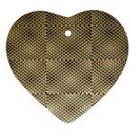 Fashion Style Glass Pattern Ornament (Heart)  Front