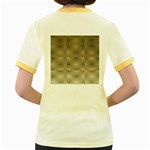 Fashion Style Glass Pattern Women s Fitted Ringer T-Shirts Back