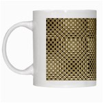 Fashion Style Glass Pattern White Mugs Left