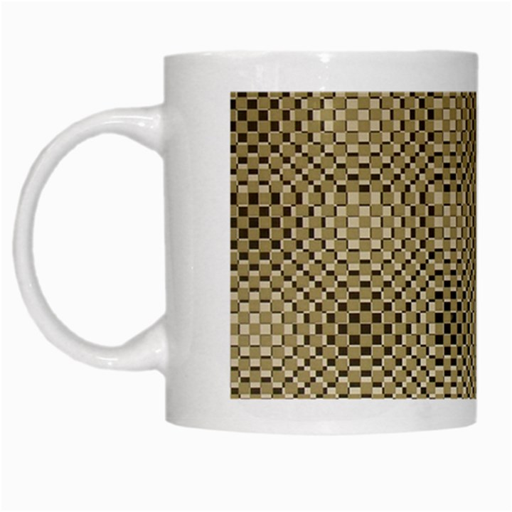 Fashion Style Glass Pattern White Mugs