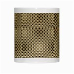 Fashion Style Glass Pattern White Mugs Center