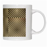 Fashion Style Glass Pattern White Mugs Right