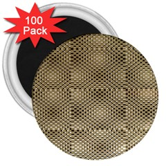 Fashion Style Glass Pattern 3  Magnets (100 pack)