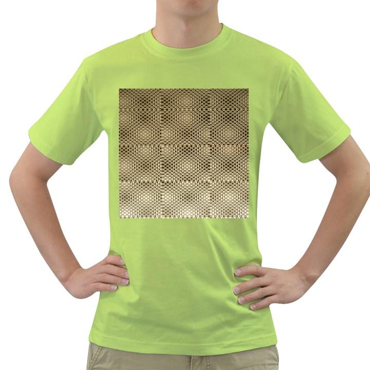 Fashion Style Glass Pattern Green T-Shirt