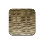 Fashion Style Glass Pattern Rubber Square Coaster (4 pack)  Front