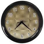 Fashion Style Glass Pattern Wall Clocks (Black) Front