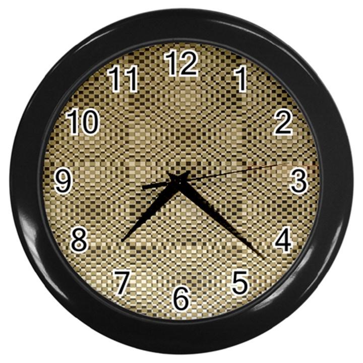 Fashion Style Glass Pattern Wall Clocks (Black)